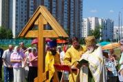 Освящение Поклонного креста 8 июля 2012 г.